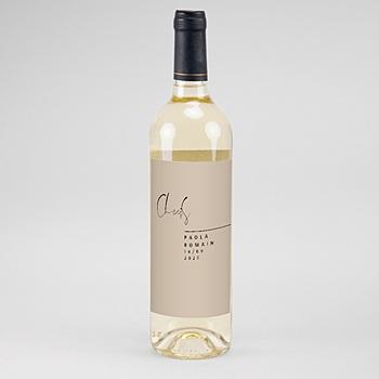 Flaschenetiketten Wein Handschrift