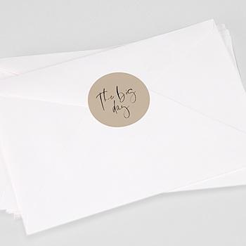 Aufkleber Hochzeit Handschrift