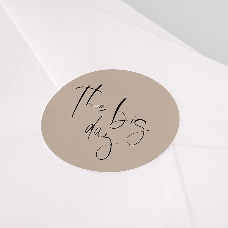 Aufkleber Hochzeit Handschrift pas cher