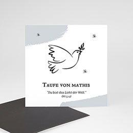 Dankeskarten Taufe Jungen Heilige Taube