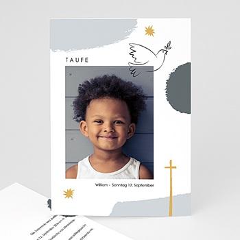 Einladungskarten Taufe mit Fotos Matisse Stil