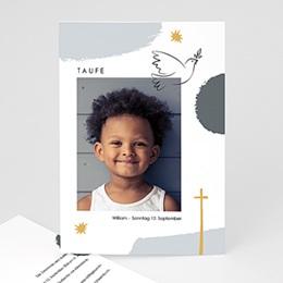 Karten Taufe Matisse Stil