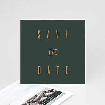 Save The Date  - Grün & Kraft - 0