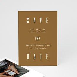Save the date Hochzeit Leinen & Senftöne