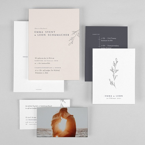 Natur Hochzeitseinladungen Kinfolk Spirit gratuit