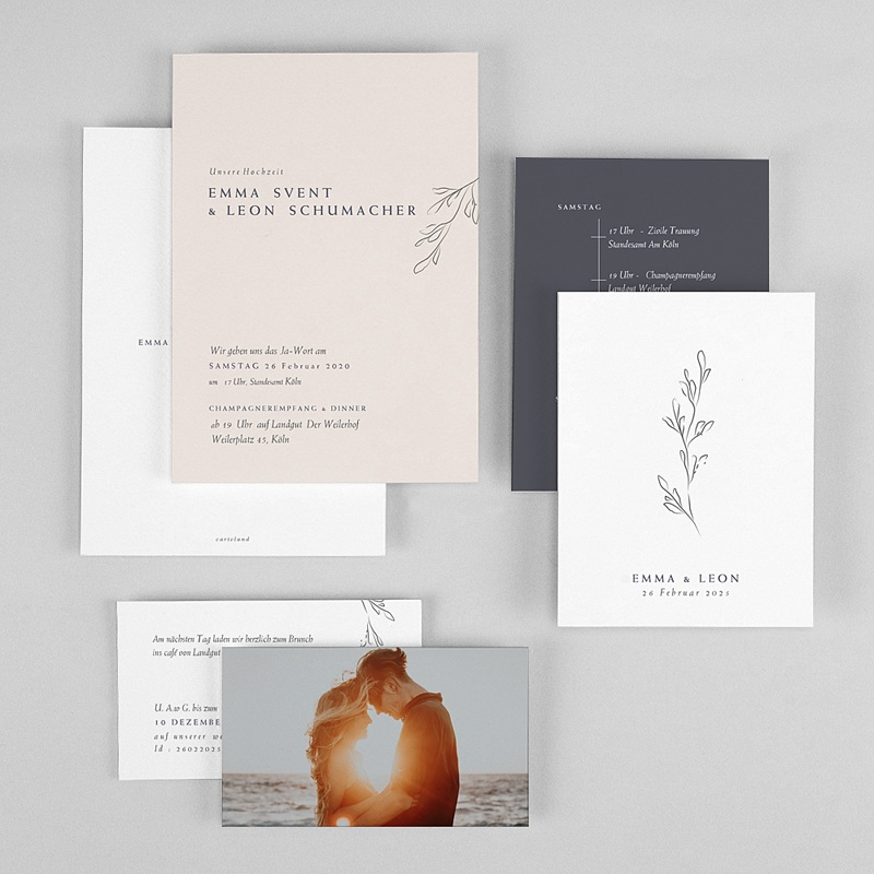 Einladungskarten Naturhochzeit  Kinfolk Spirit gratuit