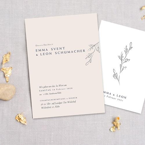 Einladungskarten Naturhochzeit  Kinfolk Spirit