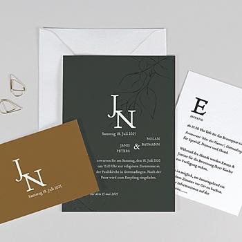 Hochzeitseinladungen Gruen - Schöne Pflanzen - 0