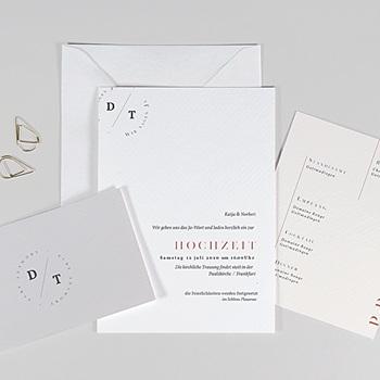 Hochzeitseinladungen Schlicht - Moderner Twist - 0
