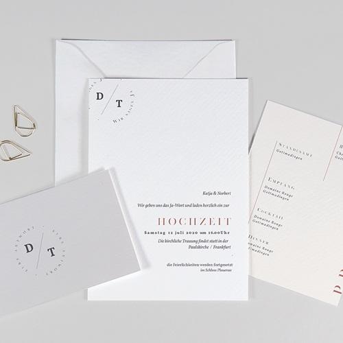 Schlicht Hochzeitseinladungen Moderner Twist