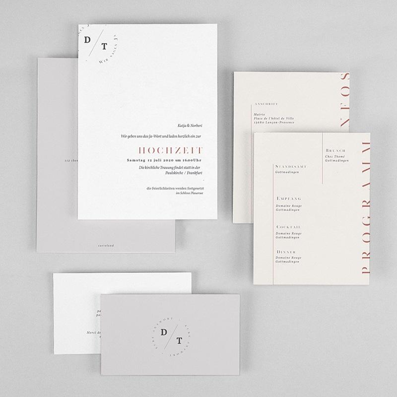 Schlicht Hochzeitseinladungen Moderner Twist gratuit