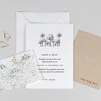 Hochzeitskarten Kraftpapier Authentisch