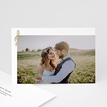 Originelle Dankeskarte Hochzeit  - Musik - 0