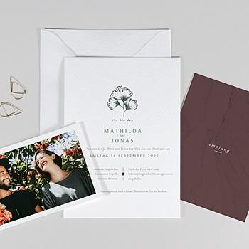 Einladungskarten Naturhochzeit  - Kinfolk Style - 0