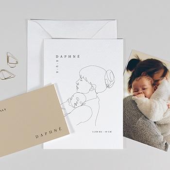 Geburtskarten für Mädchen - Mutter und Kind - 0