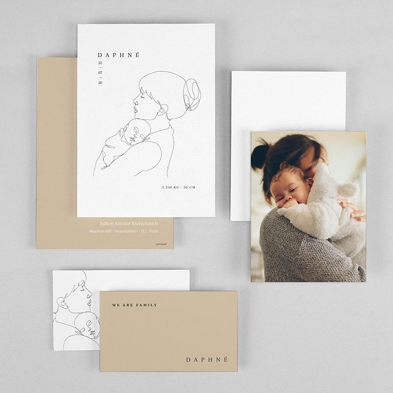 Geburtskarten für Mädchen Mutter und Kind gratuit