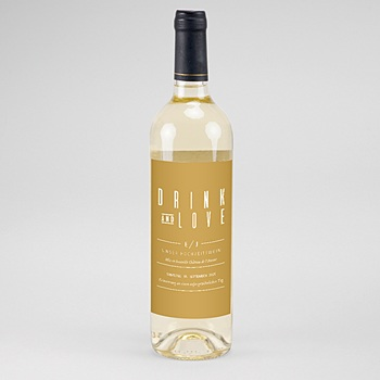 Flaschenetiketten Hochzeit - Leinen & Senftöne - 0