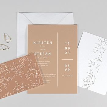 Einladungskarten Naturhochzeit  Milan