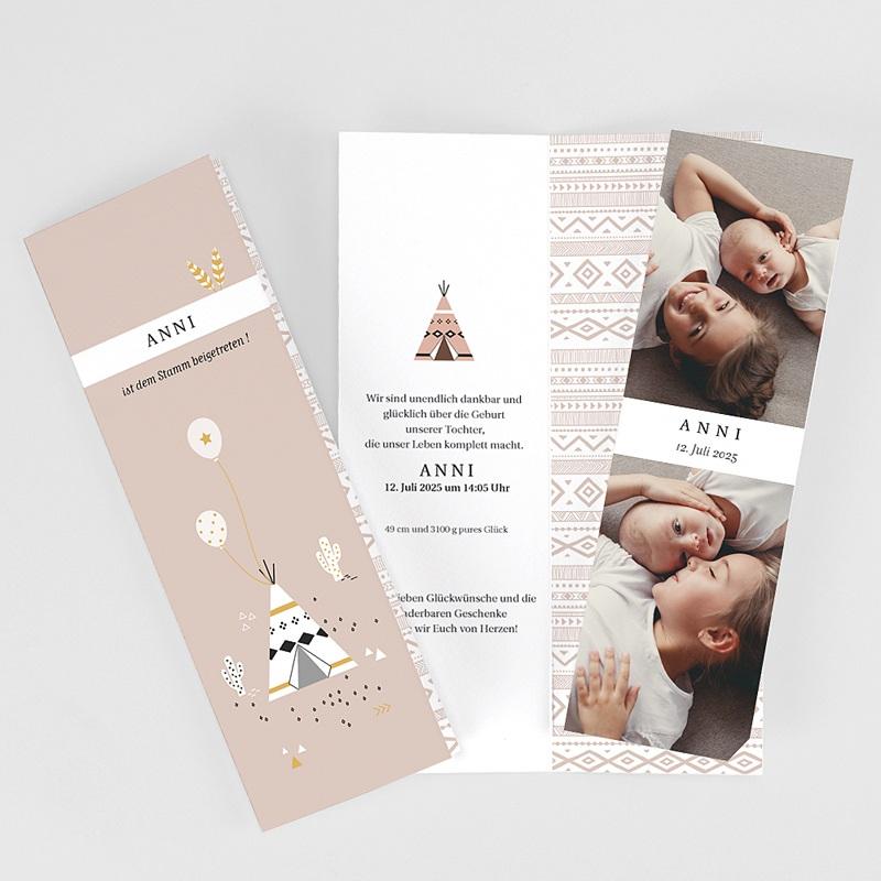 Geburtskarten für Mädchen Teepee