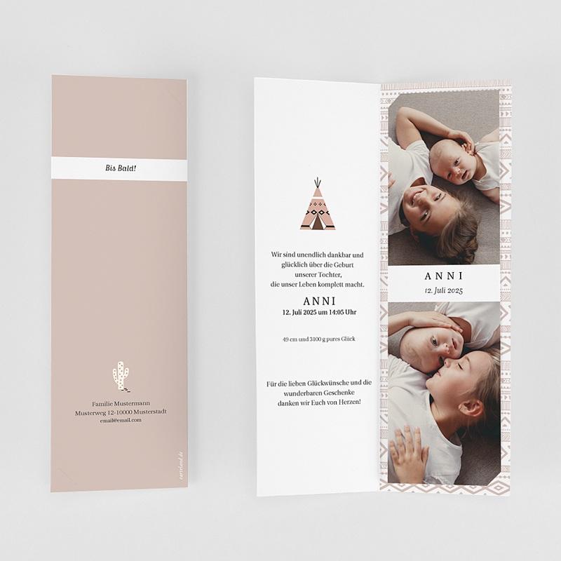 Geburtskarten für Mädchen Teepee gratuit