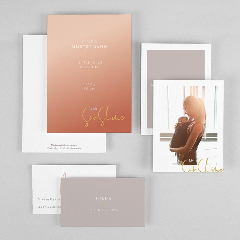 Geburtskarten für Mädchen Sonnenstrahl gratuit