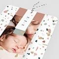 Geburtskarten für Mädchen Terrazzo Rosa pas cher