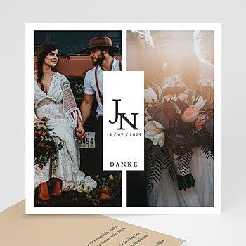 Dankeskarten Hochzeit mit Foto Schöne Pflanzen