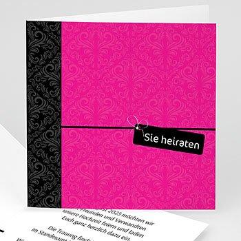 Sie + Er - Karten Hochzeit - 1