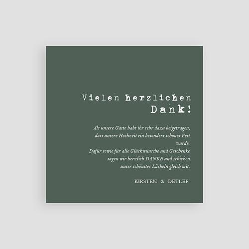 Boho Dankeskarten Hochzeit Authentisch, 10 x 10 pas cher