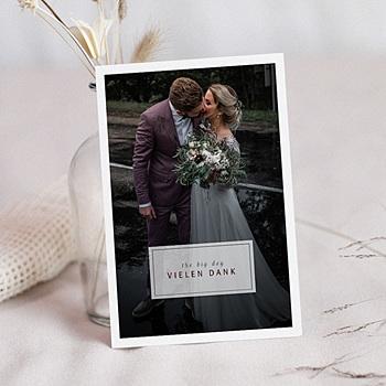 Dankeskarten Hochzeit mit Foto - Kinfolk Style - 0