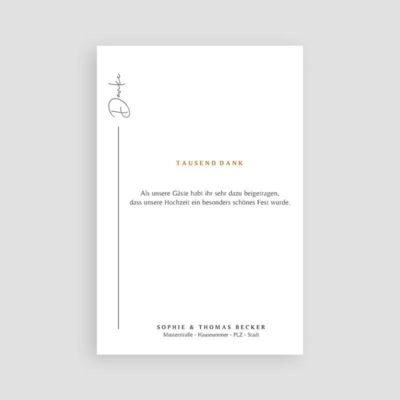 Dankeskarten Hochzeit Süden pas cher