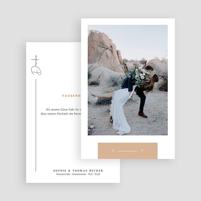 Dankeskarten Hochzeit Süden gratuit