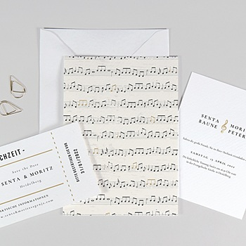 Originelle Hochzeitskarten  Musik