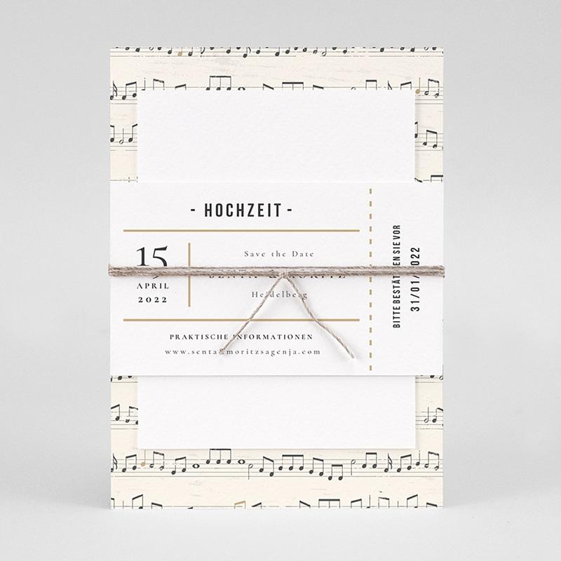 Originelle Hochzeitseinladungen Musik pas cher