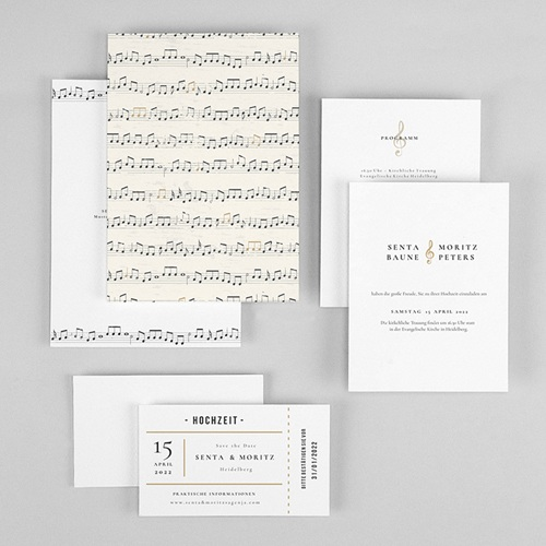 Originelle Hochzeitseinladungen Musik gratuit