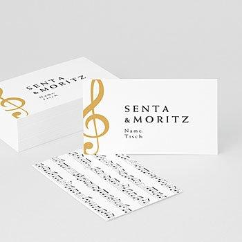 Tischkarten Hochzeit - Musik - 0