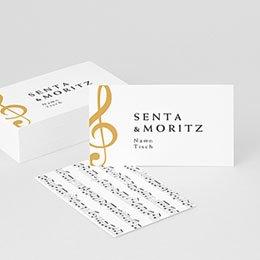 Tischkarten Hochzeit Musik