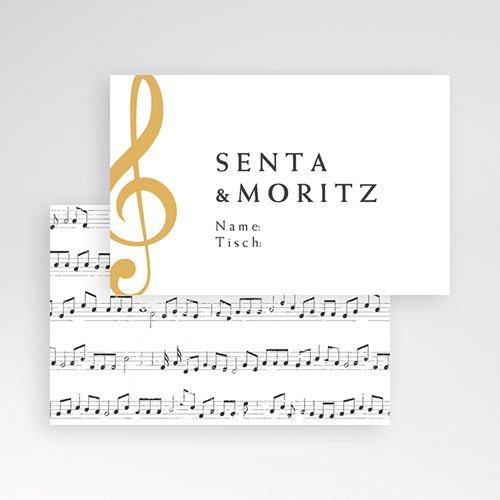 Tischkarten Hochzeit Musik pas cher