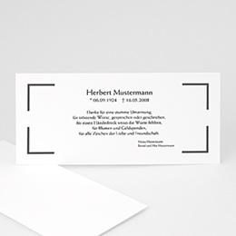 Karten Décès universel Trauerkarte klassisch