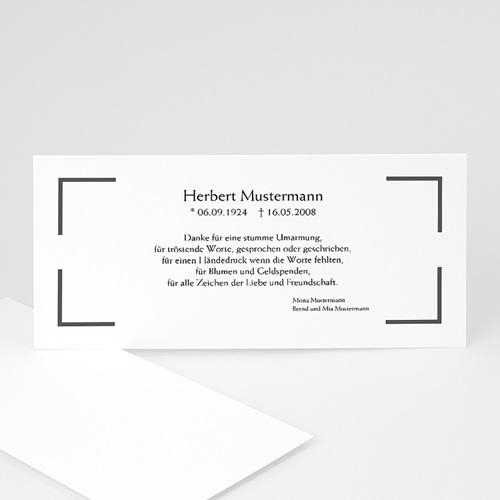 Archivieren - Trauerkarte klassisch 7803