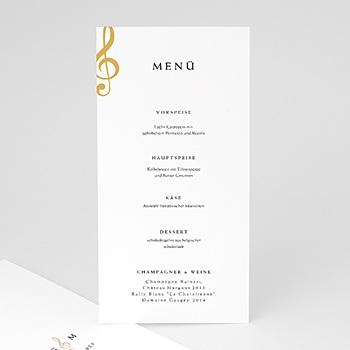 Menükarten Hochzeit - Musik - 0