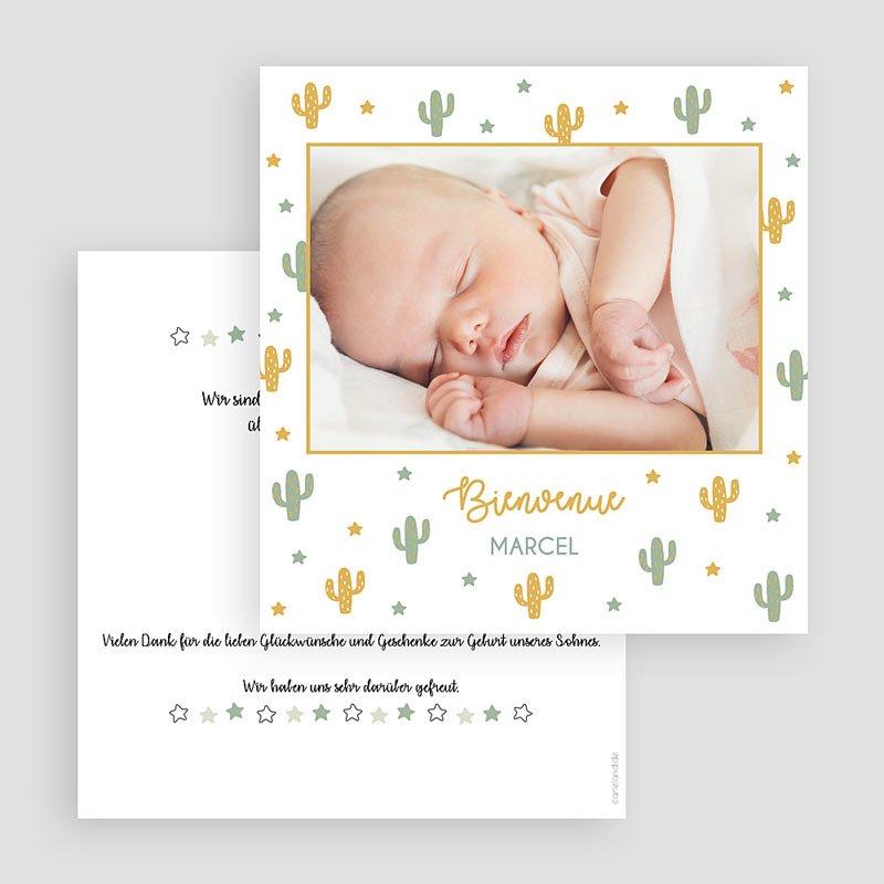 Geburtskarten für Jungen Kaktusland gratuit