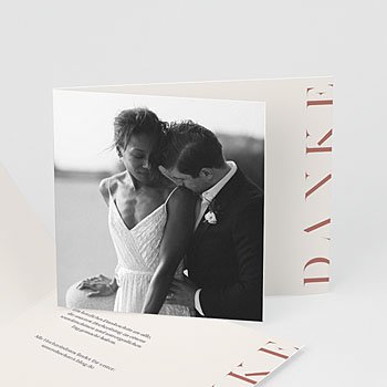 Dankeskarten Hochzeit mit Foto Moderner Twist