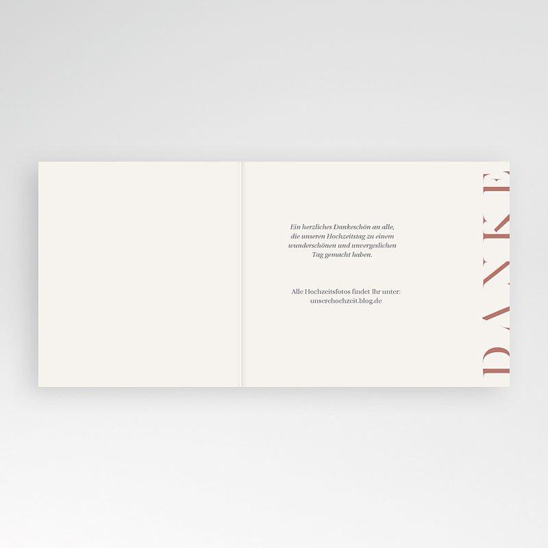Dankeskarten Hochzeit mit Foto Moderner Twist pas cher