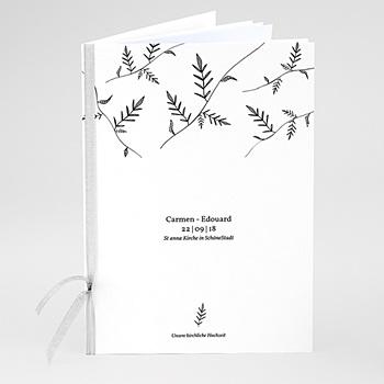 Kirchenheft zur Hochzeit individuell gestalten Herbal Love