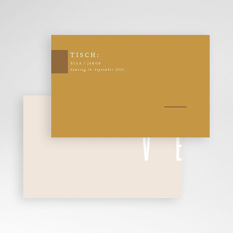 Tischkarten Hochzeit Leinen & Senftöne pas cher
