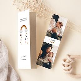 Geburtskarten für Mädchen Regenbogen