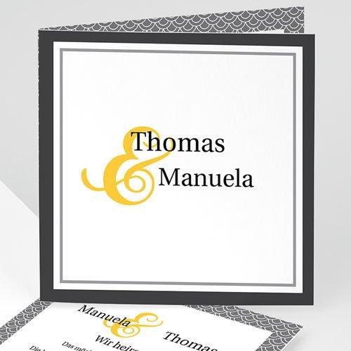 Einladungskarten Hochzeit  - Rabat 7833 test