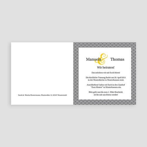 Einladungskarten Hochzeit  - Rabat 7834 test