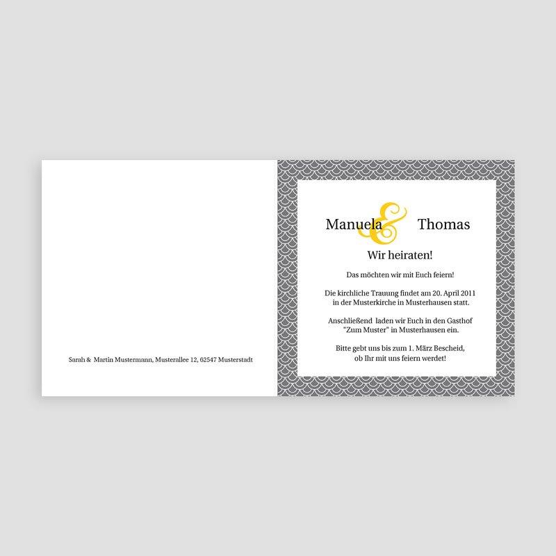 Klassische Hochzeitskarten  Rabat pas cher